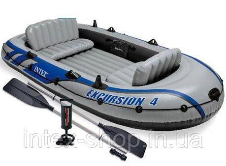 Надувная лодка Intex 68324 Excursion-4 SET 315х170х43см. киев, фото 2