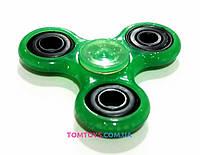 Спиннер для рук игрушка Антистресс Hand spinner зелёный перламутровый M31