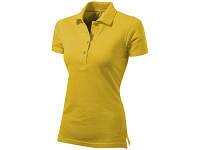 """Рубашка поло """"First"""" женская, золотисто-желтый"""