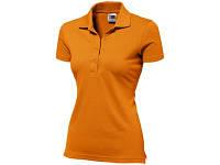 """Рубашка поло """"First"""" женская, оранжевый"""