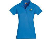"""Рубашка поло """"First"""" женская, небесно-голубой"""
