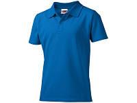 """Рубашка поло """"First"""" детская, небесно-синий"""