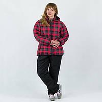 Зимние женские горнолыжные костюмы больших размеров Клетка