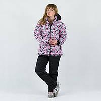 Зимний женский спортивный костюм Цветочек розовый