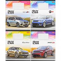 Тетрадь цветная 18 листов, линия «SUV Ca… (арт.2107л)