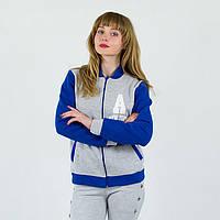 Серая спортивная женская кофта олимпийка A