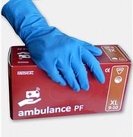 Перчатки ТМ Ambulance медицинские синие размер L 25пар*1уп