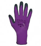 Перчатки ТМ Doloni с латексным покрытием неполный облил фиолетовые размер 10