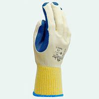 Перчатки ТМ Doloni с латексным покрытием двойной облив синий размер 10