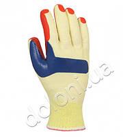 Перчатки ТМ Doloni с латексным покрытием, двойной облив, красный, размер 10