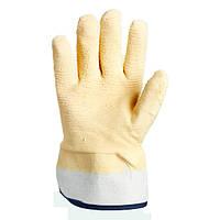 Перчатки ТМ Doloni с латексным покрытием ребристые бежевые размер 10