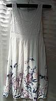 Платье-сарафан из штапеля с цветочным принтом женское батальное