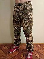 Камуфляжные мужские штаны с резинкой на поясе  с манжетом на резинке 2.