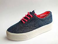 Спортивные текстильные туфли на шнурках на толстой подошве малиновые шнурки