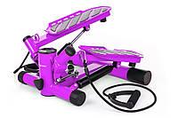 Степпер для дома с эспандерами Hop-Sport HS-30S  Фиолетовый