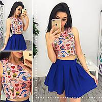 Красивый костюм топ+юбка в расцветках  BER-002.006.042