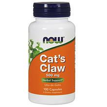 Кошачий коготь NOW Foods CAT`s CLAW 500 mg 100 капсул