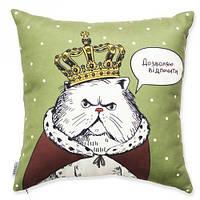 Подушка Кот в короне