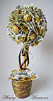 Денежное дерево из конфет