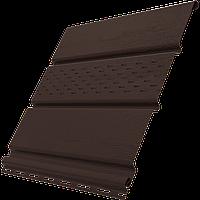 Софит коричневый с перфорацией