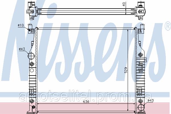 Радиатор MERSEDES 164 05-11 (GL-ClASS) SUV/(ML-CLASS) SUV - AvtoVita в Киеве