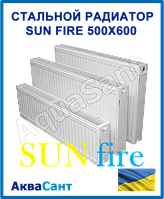 Стальной радиатор Sunfire (WorldPan) 500x600 тип 22 боковое подключение