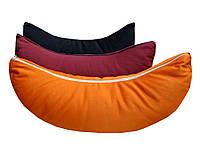 """Подушка-полумесяц для медитации из гречневой лузги 12*25*42см (хлопок) """"Чандра"""""""