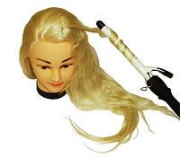 Голова муляж искусственный волос — блондинка