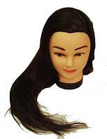Голова муляж искусственный волос — брюнетка