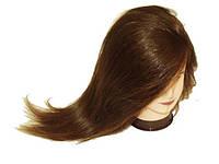 Голова муляж искусственный волос — шатенка
