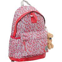 Подростковый рюкзак для девочки yes 1 Вересня 552571 oxford Х166 красный 47*31*18.5см