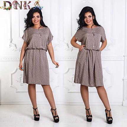 Штапельное платье с карманами, фото 2