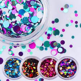 Камифубуки (конфетти) для декора ногтей