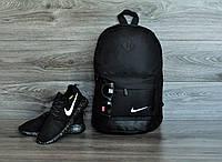 Городской рюкзак мужской, женский, для ноутбука черный