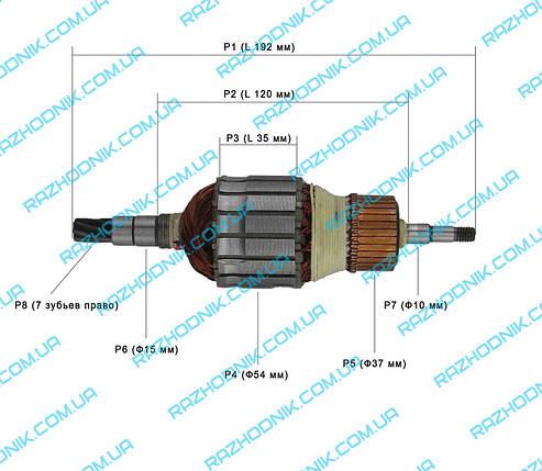Якір на перфоратор Makita HR5201C, фото 2