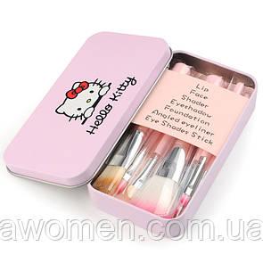 Набор кистей 7 штук Hello Kitty (розовое)