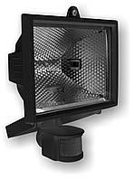 Прожектор.  e.halogen.move.150.black 150Вт черный прожектор с датчиком движения
