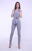 Комплект жилет + брюки серый