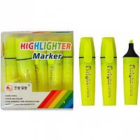 Текстовыделитель JH-700 желтый (арт.JH-700/Ж)
