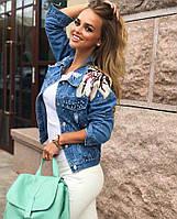 Куртка женская, материал джинс ,(бабочки, жемчуг), производство Китай гн №281-550