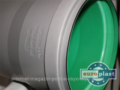 Труба 110х2,7х315 ПП Европласт с уплотнительным кольцом для внутренней канализации серая