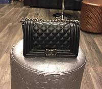 Сумка мини женская кожаная Chanel Люкс цепочка через плечо