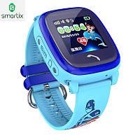 Детские умные часы smart baby watch Smartix LBS DF25 (Q100 aqua) Гарантия