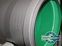 Труба 110х2,7х500 ПП Европласт раструбная с уплотнительным кольцом для внутренней канализации серая