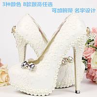 Туфли женские, Свадебные-Банкетные, Дизайнерские ручной работы,Шикарные модели, с жемчугом (33-43р.)2017 год.