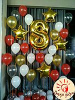 №13 Фотозона из гелиевых шаров Днепр