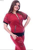 Костюм летний женский спортивный  с бриджами,  с 50 по 60 размер