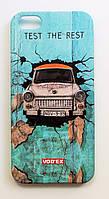 Чехол на Айфон 5/5s/SE Vodex стильный Пластик Автомобиль в стене