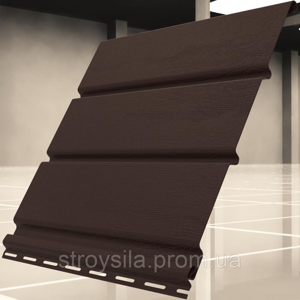 Софит коричневый без перфорации