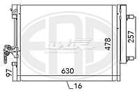 Конденсер FORD MONDEO 07-10/MONDEO 10-14/S-MAX 06-14